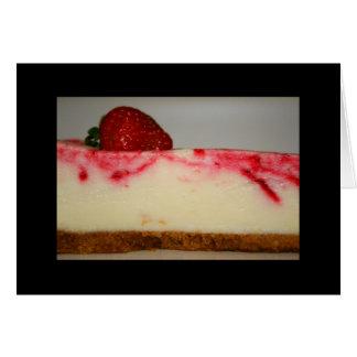 Carte de voeux de gâteau au fromage de fraise et