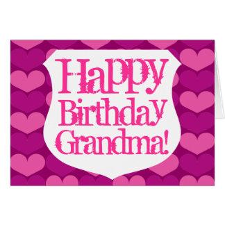 Carte de voeux de grand-maman de joyeux