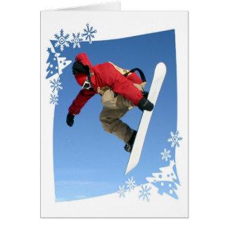Carte de voeux de grippage de surf des neiges
