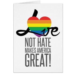 Carte de voeux de haine d'amour pas (arc-en-ciel)