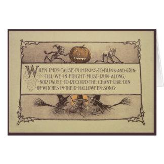 Carte de voeux de Halloween