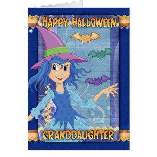 carte de voeux de Halloween de petite-fille