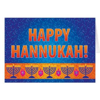 Carte de voeux de Hannukah