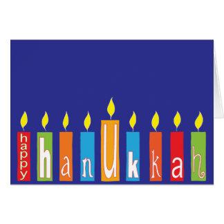 "Carte de voeux de Hanoukka/enveloppe ""bougies de"