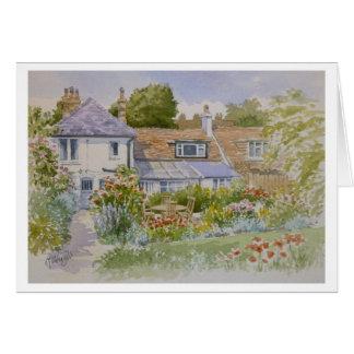 Carte de voeux de jardin de cottage