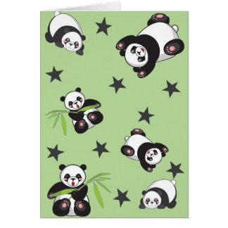 Carte de voeux de jeu de panda