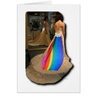 Carte de voeux de jeune mariée de fierté