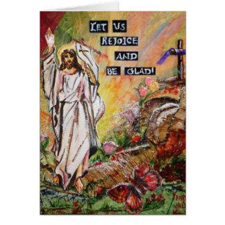 Carte de voeux de joie de Pâques