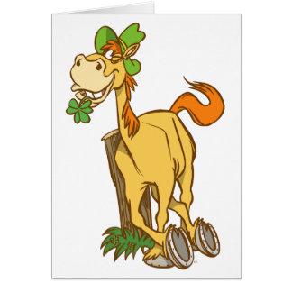 Carte de voeux de jour de Cheval-St Patrick chance
