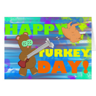 Carte de voeux de jour de thanksgiving