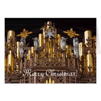 Carte de voeux de Joyeux Noël - cathédrale de