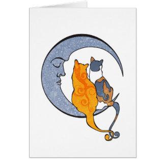 Carte de voeux de Kats de lune