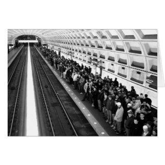 Carte de voeux de la métro B&W