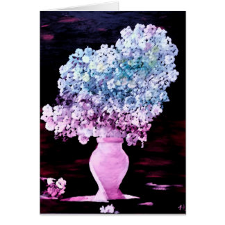 Carte de voeux de la saison, fleur des fleurs