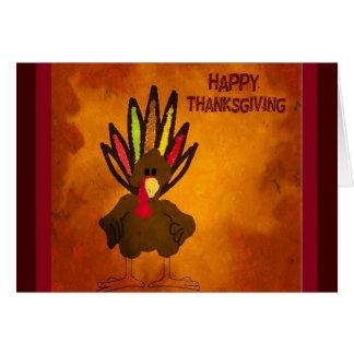 Carte de voeux de la Turquie de thanksgiving
