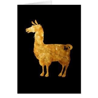 Carte de voeux de lama d'or