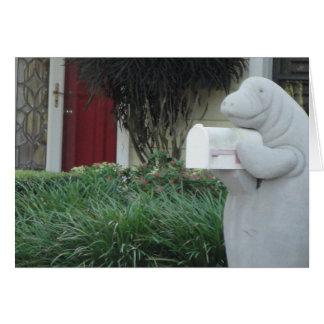 Carte de voeux de lamantin