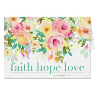 Carte de voeux de l'amour | d'espoir de foi