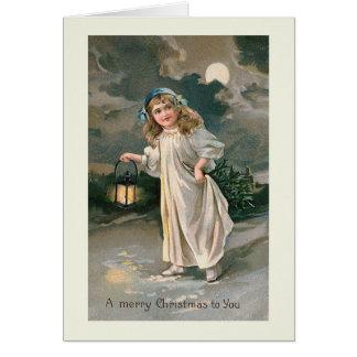 """Carte de voeux """"de lanterne de Noël"""""""
