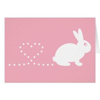 Carte de voeux de lapin de coeur de Pooping