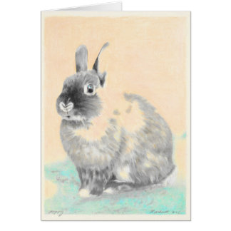 Carte de voeux de lapin d'illustrations