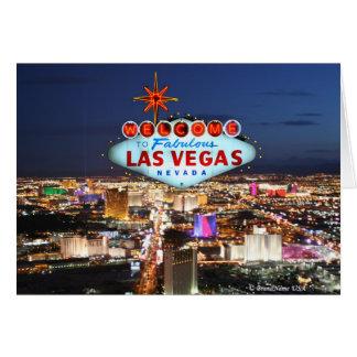 Carte de voeux de Las Vegas