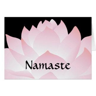 Carte de voeux de Lotus de rose de yoga de Namaste