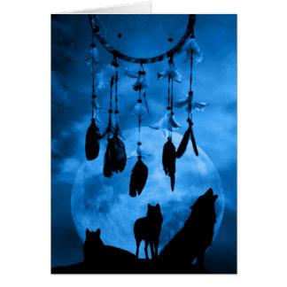 Carte de voeux de loups de Dreamcatcher