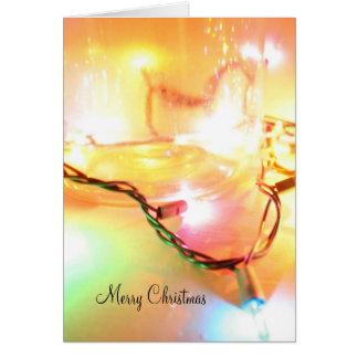 Carte de voeux de lumières de Noël