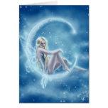 Carte de voeux de lune d'hiver