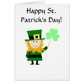 Carte de voeux de lutin du jour de St Patrick