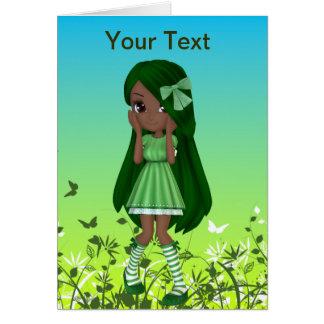 Carte de voeux de Madame Lime d'Afro-américain
