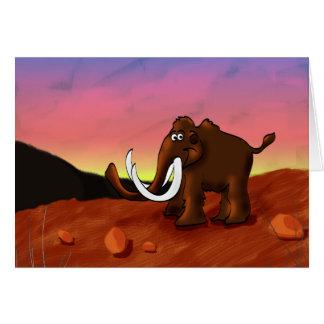 Carte de voeux de mammouth laineux