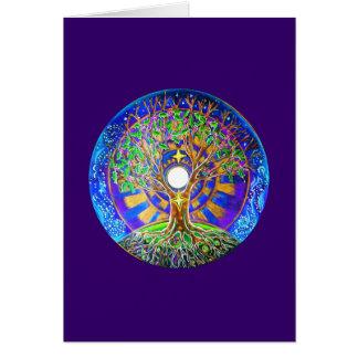 Carte de voeux de mandala de pleine lune