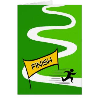 Carte de voeux de marathon de félicitations