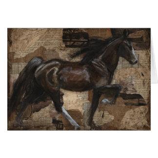 Carte de voeux de marche de cheval du Tennessee