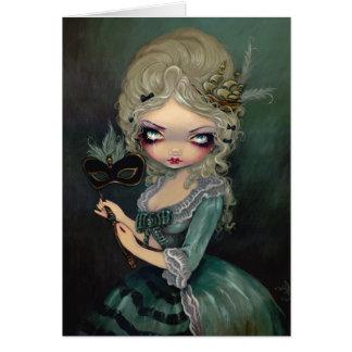 "Carte de voeux ""de mascarade de Marie"""