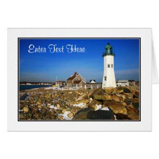 Carte de voeux de masse de phare de Cape Cod -