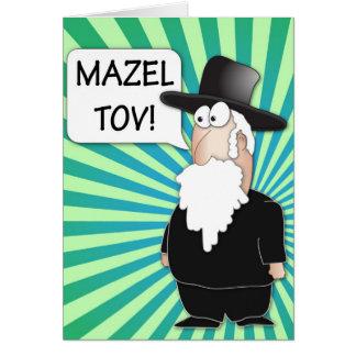 Carte de voeux de Mazel Tov - bande dessinée juive