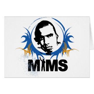 Carte de voeux de MIMS - éclaboussure - exclusivit