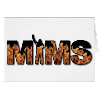Carte de voeux de MIMS - logo - noir