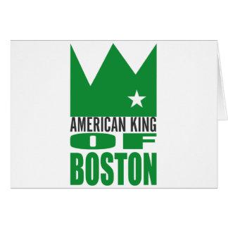 Carte de voeux de MIMS - roi américain de Boston