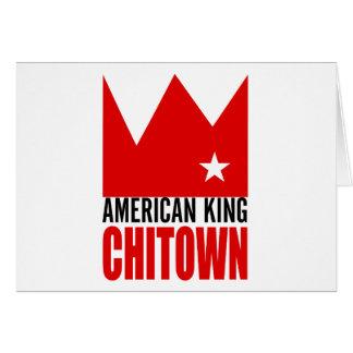 Carte de voeux de MIMS - roi américain de Chi-Vill