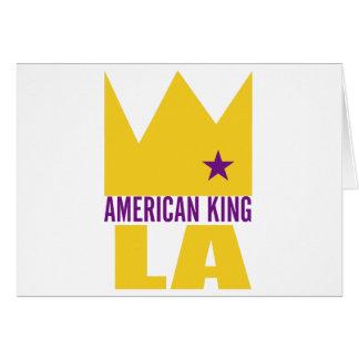 Carte de voeux de MIMS - roi américain de L A