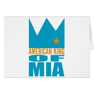Carte de voeux de MIMS - roi américain de MIA