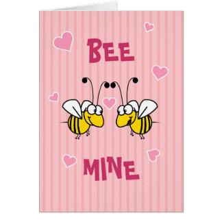 Carte de voeux de mine d'abeille