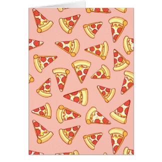 Carte de voeux de motif de dessin de pizza de