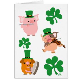 Carte de voeux de musiciens du jour de St Patrick