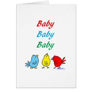 Carte de voeux de naissance de triplet
