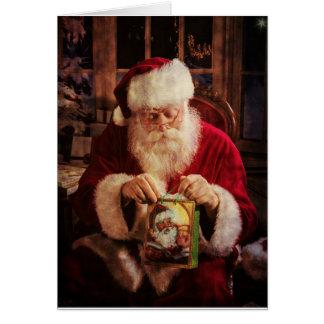 Carte de voeux de Noël avec Père Noël